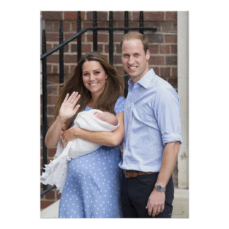 Duke & Duchess Of Cambridge at Lindo Wing Posters