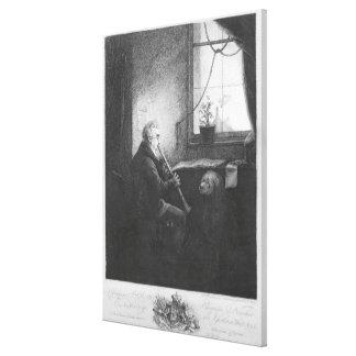 Duke Esterhazy Playing the Clarinet, 1809 Canvas Print