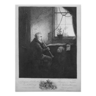 Duke Esterhazy Playing the Clarinet, 1809 Posters