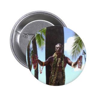 Duke Kahamaha Statue in Waikiki Honolulu Hawaii Button