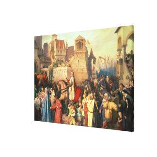 Duke Leopold the Glorious  enters Vienna Canvas Print