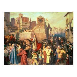 Duke Leopold the Glorious  enters Vienna Postcard