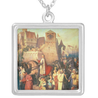 Duke Leopold the Glorious  enters Vienna Silver Plated Necklace