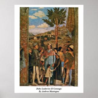 Duke Ludovico Ii Gonzaga By Andrea Mantegna Poster