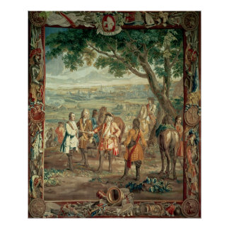 Duke of Marlborough at Fall of Lille in December Poster