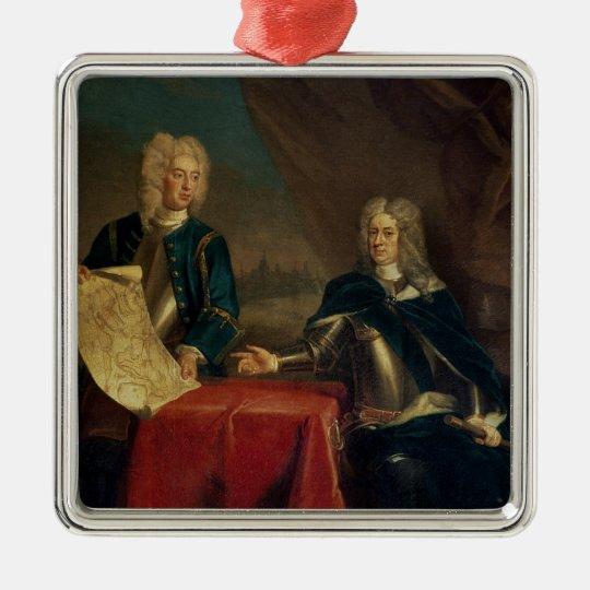 Duke of Marlborough discussing plans Metal Ornament