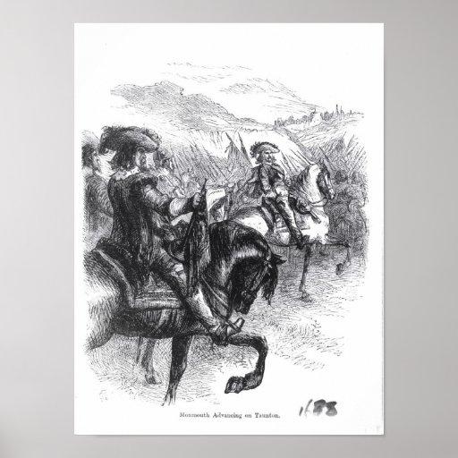 Duke of Monmouth  Advancing on Taunton Poster