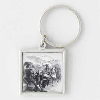 Duke of Monmouth  Advancing on Taunton Silver-Colored Square Keychain