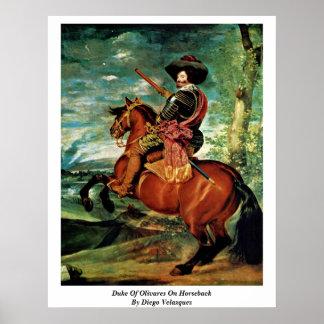 Duke Of Olivares On Horseback By Diego Velazquez Print