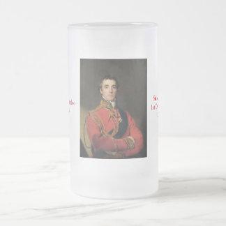 Duke of Wellington Waterloo Frosted Glass Beer Mug