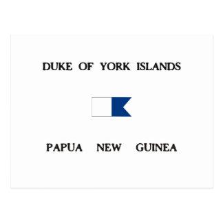 Duke of York Islands Papua New Guinea Alpha Flag Postcard