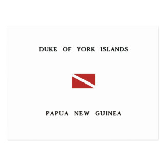 Duke of York Islands Papua New Guinea Dive Flag Postcard