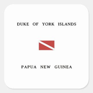 Duke of York Islands Papua New Guinea Dive Flag Square Sticker