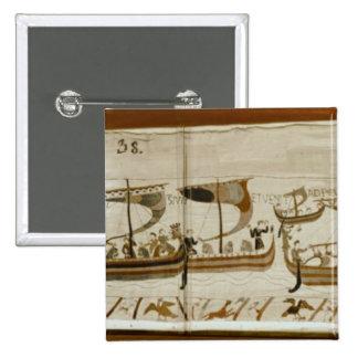 Duke William and his fleet cross Pevensey 2 Inch Square Button