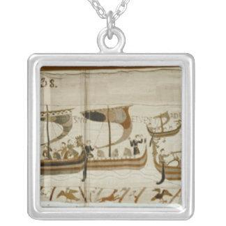 Duke William and his fleet cross Pevensey Silver Plated Necklace