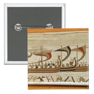 Duke William and his fleet cross the Channel 2 Inch Square Button