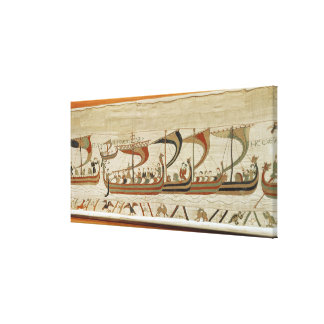 Duke William and his fleet cross the Channel Canvas Print