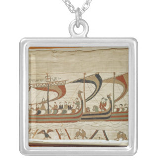 Duke William and his fleet cross the Channel Silver Plated Necklace