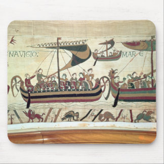 Duke William and his Fleet Cross the Channel to Pe Mouse Pad