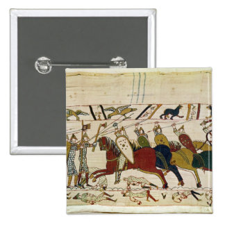 Duke William Exhorts his Troops 2 Inch Square Button