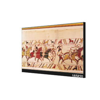 Duke William exhorts his troops Canvas Print