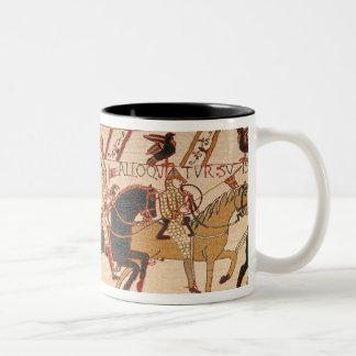 Duke William exhorts his troops Two-Tone Coffee Mug