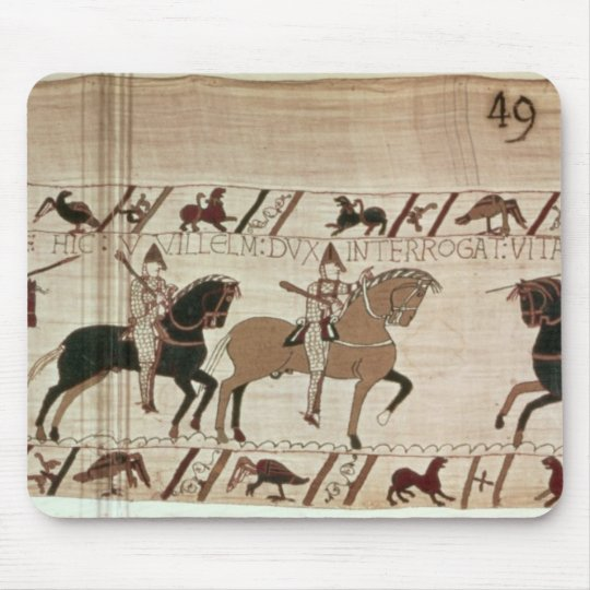 Duke William's knights arrive to do battle Mouse Pad