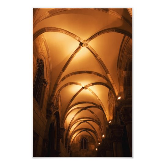 Duke's Palace Illuminated Ribbed Vault Photo Print