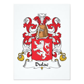 Dulac Family Crest Card