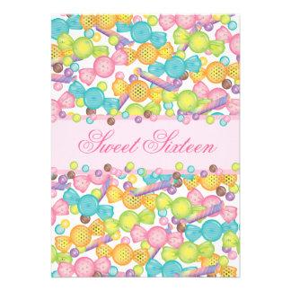 Dulce 16 colección de dieciséis caramelos en Brown Comunicados Personales
