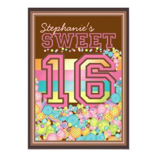 Dulce 16 colección de dieciséis caramelos en Brown