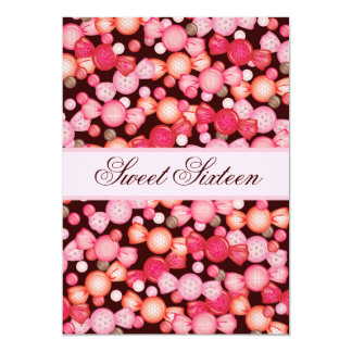 Dulce 16 colección de dieciséis caramelos en rosa