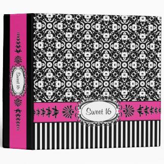 "Dulce 16 damasco rosado y negro de décimosexto Bri Carpeta 2"""