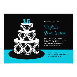 Dulce 16 invitaciones de la fiesta de cumpleaños