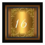 Dulce 16 lunares del rosa del oro de la fiesta de anuncios personalizados