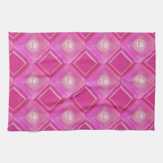 Dulce 16, número rosado de los diamantes toalla