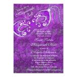 Dulce 16 púrpura 2 de la mascarada de la invitación 12,7 x 17,8 cm