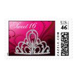 Dulce 16 rosas fuertes de princesa Tiara Postage d