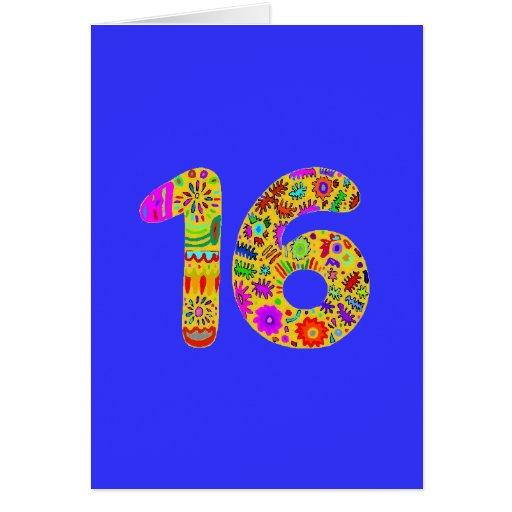 Dulce 16 tarjeta de felicitación