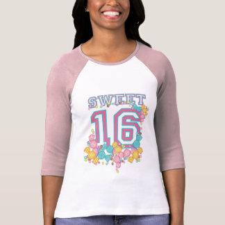Dulce 16 trullo rosado deportivo de la colección d camisetas