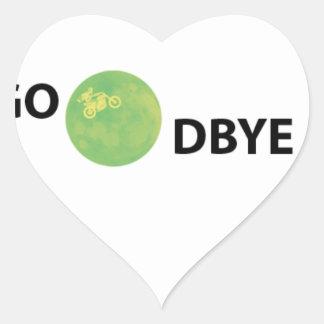 Dulce adiós pegatina en forma de corazón