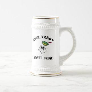 Dulce amargo alemán divertido de Kraut bebido Jarra De Cerveza
