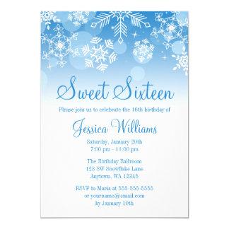 Dulce blanco azul 16 del país de las maravillas invitación 12,7 x 17,8 cm