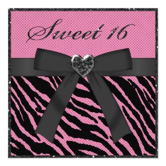 Dulce brillo del estampado de zebra rosado y negro anuncios
