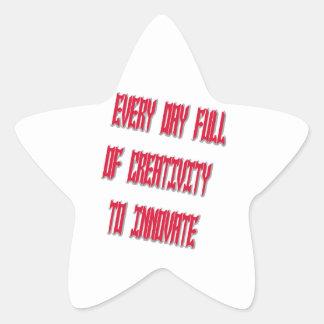 Dulce cada día por completo de creatividad a pegatina en forma de estrella