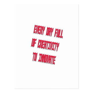 Dulce cada día por completo de creatividad a tarjetas postales
