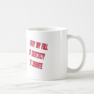 Dulce cada día por completo de creatividad a taza