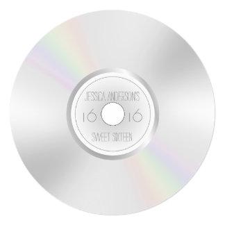 """Dulce CD dieciséis del álbum de registro del DVD Invitación 5.25"""" X 5.25"""""""