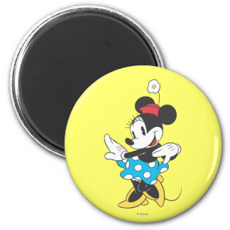 Dulce clásico de Minnie el | Imán Redondo 5 Cm