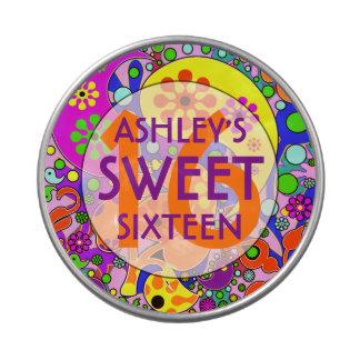 Dulce colorido 16 favores de la fiesta de latas de dulces